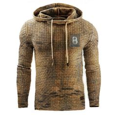 Retro Mens outdoor sports fitness hooded sweater - blaroken.com Plaid Hoodie, Hooded Sweater, Men Sweater, Shirts & Tops, New Casual Fashion, Sport Fashion, Mens Fashion, Retro, Sport Fitness
