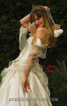 Rococo Inspired Fairy princess Corseted Ball or by KataKovacs, $2,270.00