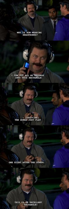 Ron Swanson on technology ladies and gentlemen...