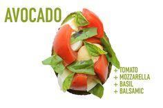 Avocado + Tomato + Mozzarella + Basil + Balsamic - 17 Impossibly Satisfying Avocado Snacks