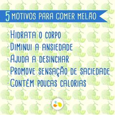 5 motivos para comer Melão! Healthy Tips, Nutrition, Eat, Words, Cooking, Health And Nutrition, Being Healthy, Health And Wellness, Healthy Foods