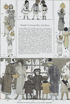 Maginel Wright Enright pattern illustrations    Great autumn styles!Good Housekeeping, November 1912