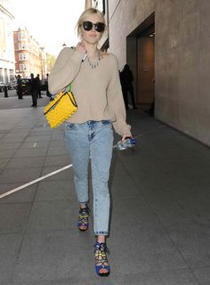Fearne Cotton seen at radio one studios in London on April 1, 2014