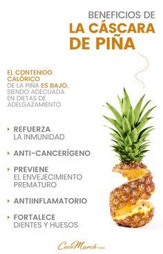 ¿Para Qué Sirve La #Cáscara De La #Piña?  #remediosnaturales Keeping Healthy, Healthy Meal Prep, Health And Nutrition, Healthy Drinks, Healthy Life, Healthy Snacks, Healthy Recipes, Natural Health Remedies, Natural Cures
