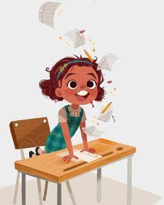 Lớp học - học sinh - trẻ em Kid Character, Character Drawing, Animation Character, Character Sketches, Children's Book Illustration, Character Illustration, Art Illustrations, Cartoon Drawings, Cartoon Art
