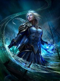 Jaina Proudmore Daily World of Warcraft Art Board ^^ // Blizzard // wow // Hearthstone // Geek // Alliance World Of Warcraft, Art Warcraft, Fantasy Women, Dark Fantasy Art, Fantasy Girl, Fantasy Artwork, Fantasy Wizard, Final Fantasy, Dnd Characters