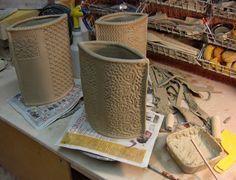 texture slabs/envelope vase