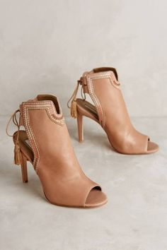 Cynthia Vincent 'Note Heels' via Anthropologie. Shoe Boots, Shoes Sandals, Ankle Boots, Bootie Sandals, Cute Shoes, Me Too Shoes, Pumps, Latest Shoes, Crazy Shoes