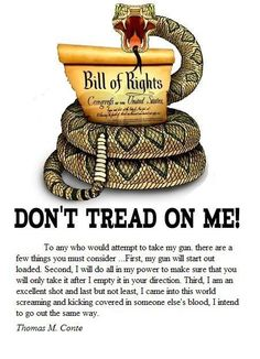 Don't Tread on Me.we should all feel this way about protecting our freedom