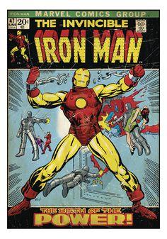 [ 34 Quot Iron Man Comic Peel Amp Stick Wall Decal ] - Best Free Home Design Idea & Inspiration Iron Man Comic Books, Comic Poster, Comic Book Covers, Vintage Comics, Tony Stark, Marvel Comics, Wall Decals, Superhero, Bedroom