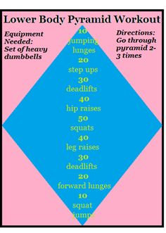 Lower Body Pyramid Workout (uses dumbbells).