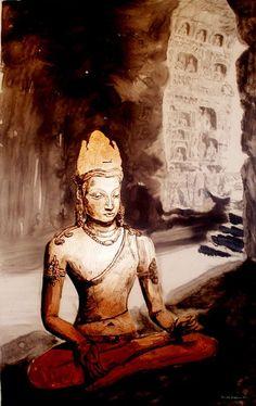 Dun Hua Buddha - Donald Jackson Art