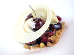 Cherry Pistachio Dessert at Le Cirque #dessert #nyc #restaurant