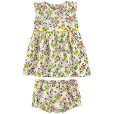 Stella McCartney Kids - Flower-printed cotton dress and bloomers - Ivory - 108022