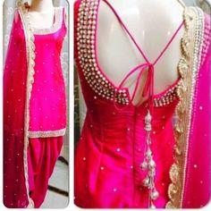 Wedding Suit Punjabi wedding suits Are you looking for the best Latest Elegant Salwar suit plus Elegant Design ladies Punjabi Suit if so then CLICK VISIT link above for more info Patiala Suit Designs, Patiala Salwar Suits, Salwar Designs, Blouse Designs, Sleeve Designs, Dress Designs, Churidar, Dress Indian Style, Indian Dresses