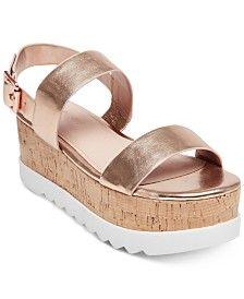 efed222cc85 Steve Madden Women's Recover Flatform Sandals Shoes - Sandals ...