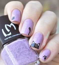 Top 32 Chic Black Cat Manicure Nails To Try Pretty And Modern Black Cat Nail Art Designs Ideas Cat appearance lovely and cute. sometimes folks like to have cats as their pets, i personally own a stunning cat and she or he is de facto keen on Cat Nail Art, Animal Nail Art, Cat Nails, Nail Art Diy, Nail Art Ideas, Kawaii Nail Art, Animal Fun, Trendy Nail Art, Cat Nail Designs