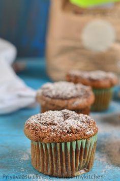 Eggless Barley flour doughnut muffins - #BreadBakers | I Camp in my Kitchen