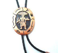 Vintage Bolo Tie Native American Arrow Copper Jewelry