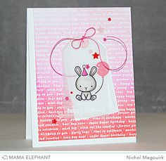 Card by Nichol Magouirk using Mama Elephant - Carnival Cupcakes & other new releases