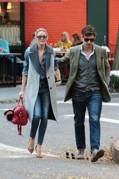 The Olivia Palermo Lookbook : Olivia Palermo and Johannes Huebl in NYC