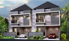 rumah masa depan - Penelusuran Google Sims House, Architect Design, Home Fashion, Modern Architecture, Home Remodeling, Townhouse, Home Improvement, Sweet Home, Minimalist