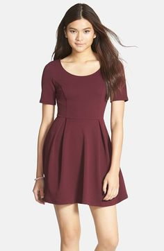 So classic!  Lush Texture Knit Skater Dress (Juniors) (Online Only) available at #Nordstrom
