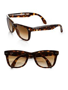 Ray-Ban - Folding Wayfarer Sunglasses - Saks.com My favorites but lost them , now I get the faux wayfarer @ Macy's or JCP