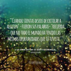 El Gran Gatsby-   F.Scott Fitzgerald.