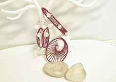 Heidin korutaiteilut: Jotain viininpunaista Wire Wrapping, Diy Jewelry, Diy Jewelry Making