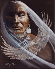 """DA SÉRIE XAMANISMO """"Nossos mortos jamais esquecem esta bela terra, pois ela é a mãe do homem vermelho. Somos parte da terra e ela faz parte de nós. As flores perfumadas são nossas irmãs; o cervo, o cavalo, a grande águia, são nossos irmãos. Os picos rochosos, os sucos úmidos nas campinas, o calor do corpo do potro, e o homem - todos pertencem a mesma família."""" (Chefe Seatle) - Da pasta: Tradições, Mitologias, Ícones, Holismo."""