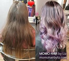Gorgeous hair color indeed. Ombre Highlights, Hair Color Balayage, Gorgeous Hair Color, Cool Hair Color, Best Hair Salon, Perms, Pink Purple, Cool Hairstyles, Long Hair Styles