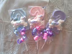 Number 2 Lollipop carousel horse theme by candycottage on Etsy