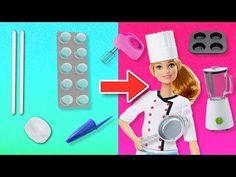 ACCESORIOS MINIATURA para la COCINA de BARBIE CHEF 👩🏻🍳🍳Manualidades Fantásticas - YouTube Barbie Chef, Barbie Dolls Diy, Barbie Doll House, Diy Doll, Doll House Crafts, Doll Crafts, Diy Crafts For Gifts, Fun Crafts, Barbie Furniture Tutorial