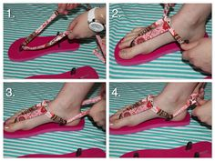 simple Serendipities: Refashion friday: Changeable straps flip flop tutorial