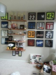 How I'm making a trophy room for my boys!