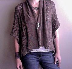 Ravelry: Shawl Collar Lace Jacket pattern by Wolfberry Knits