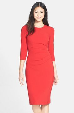 Maggy+London+Gathered+Crepe+Sheath+Dress+available+at+#Nordstrom
