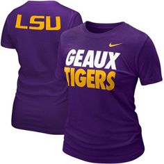 @Fanatics #FanaticsWishList - Nike LSU Tigers Ladies Geaux Tigers T-shirt - Purple