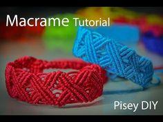 X pattern Bracelet in Vintage / Macrame Tutorial / Friendship Bracelets / Projects - YouTube