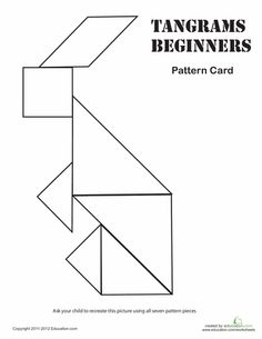 easy tangrams puzzle 8 tangram puzzleslogic puzzlestangram printablepreschool