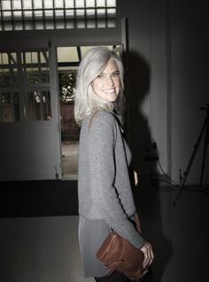 Salt and pepper gray hair. Aging and going gray gracefully. Daniel Golz, Silver Haired Beauties, Going Gray Gracefully, Silver White Hair, Grey Hair Inspiration, Long Gray Hair, Short Hair, Natural Hair Styles, White Hair