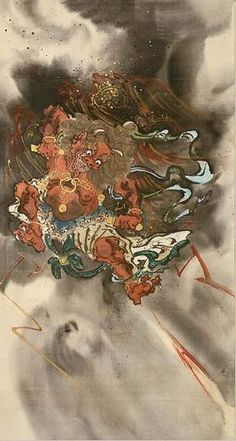 japanese Raijin ( the god of thunders ) by kawanabe kyosai - in the Boston museum of fine arts by orientalex 2, via Flickr