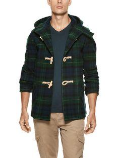 Wool Plaid Toggle Coat by Fidelity Sportswear on Gilt.com