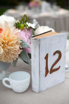 Books as table numbers