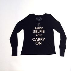 Kids Boutique Clothing - Girls Selfie Carry On L/S Tee Black