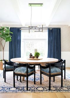 Amber Interiors Design Studio is a full-service interior design firm based in Los Angeles, California, founded by Amber Lewis. We serve clients worldwide with services ranging from interior design, interior architecture to furniture design. Style At Home, Round Dining, Dining Table, Dining Rooms, Dining Area, Dining Chairs, Trestle Table, Table Seating, Room Chairs