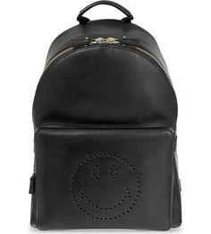 ANYA HINDMARCH - Smiley leather backpack   Selfridges.com