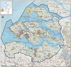 Map of Zeeland - the netherlands Eindhoven, Beautiful Architecture, Balearic Islands, Cartography, Netherlands, Places To Go, Beautiful Places, Country, World