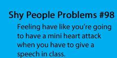 Shy People Problems. A mini more like a massive!